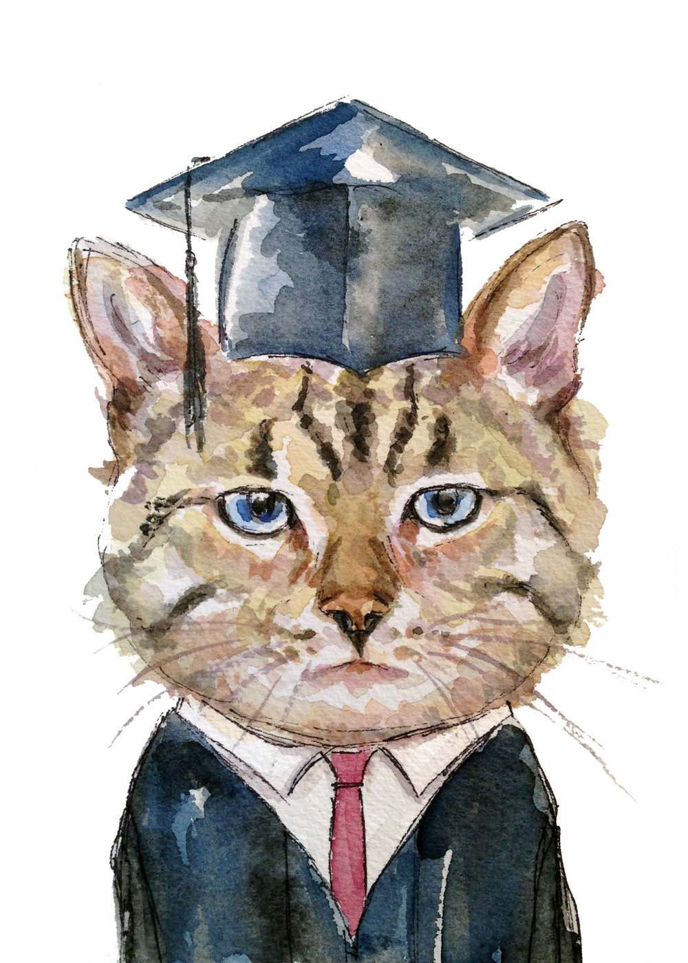 Grad Cat (ORIGINAL SOLD)