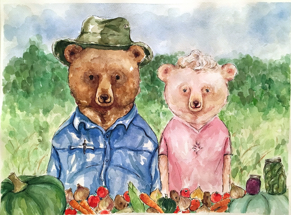 Alex & Elaine as bears