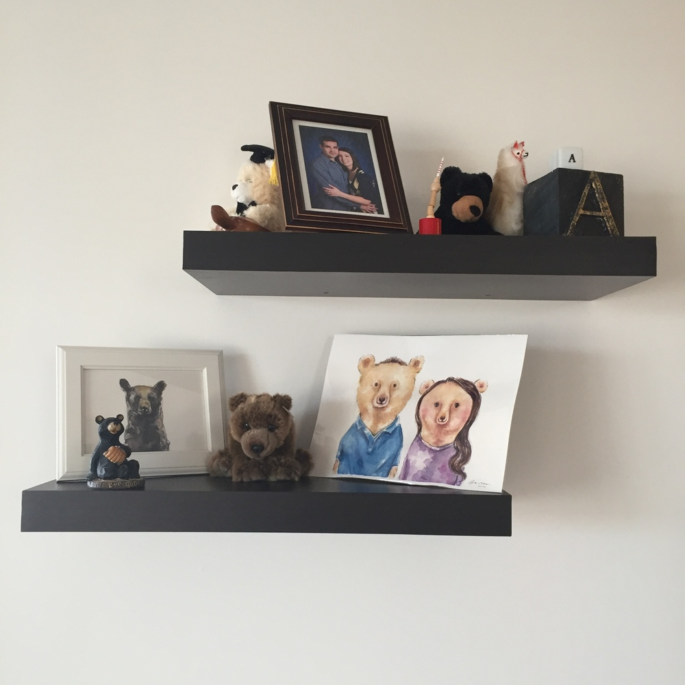 "Allison and Ben's ""bear wall"""