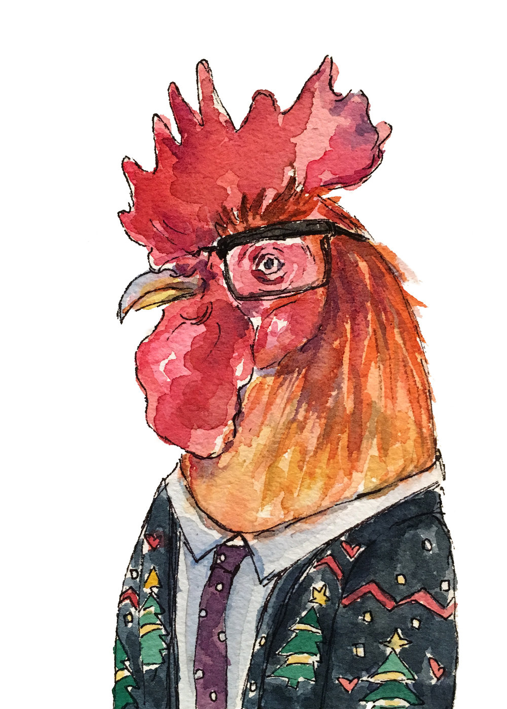 Holiday rooster