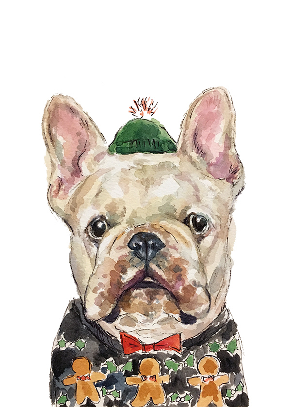 Christmas Frenchie