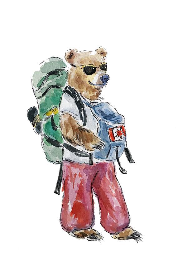 Backpacking Bear