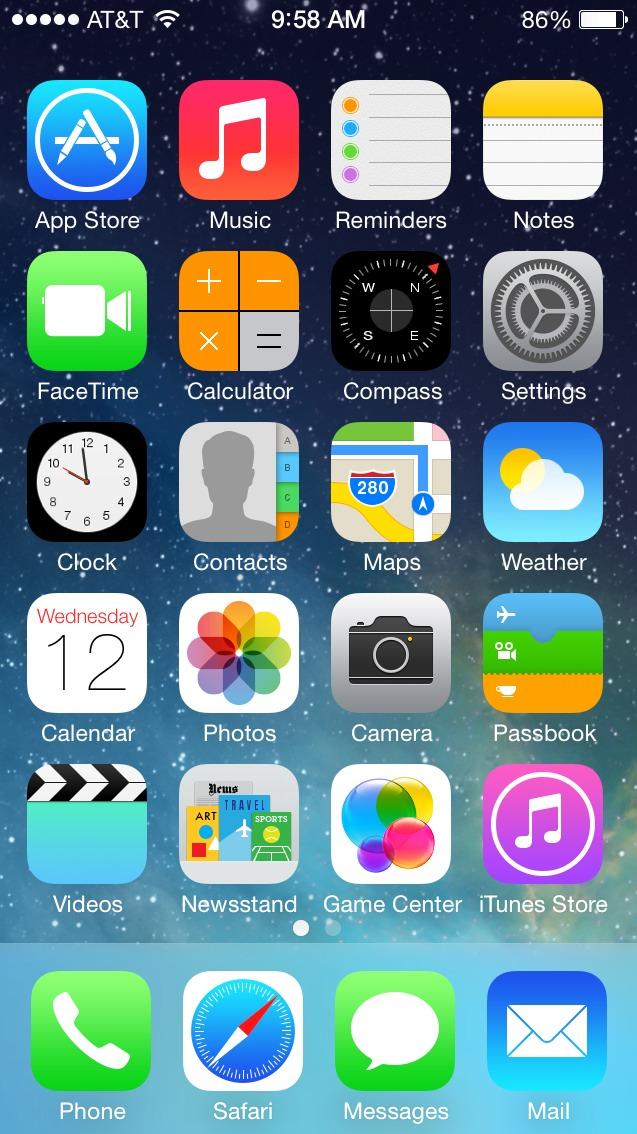 iOS7 Homescreen - Notice any similarities?