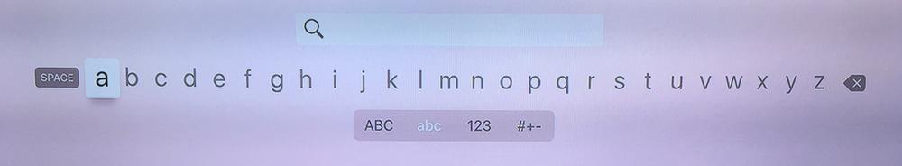 Apple TV 4th Generation - Keyboard input