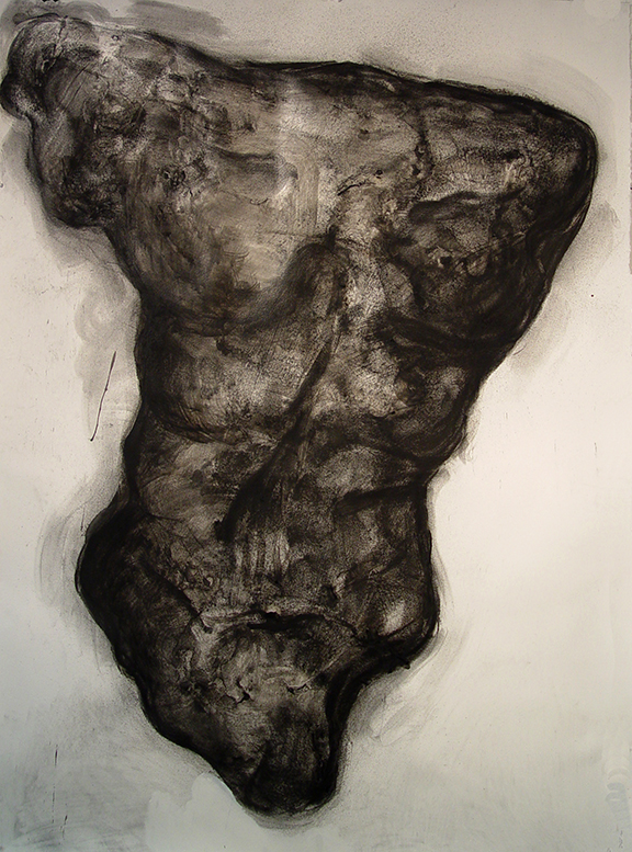 TORSO STUDY- For GRAND TORSO, Ed Smith- Charcoal, and media on Paper, 61 in x 42  in. 2015 copy.jpg