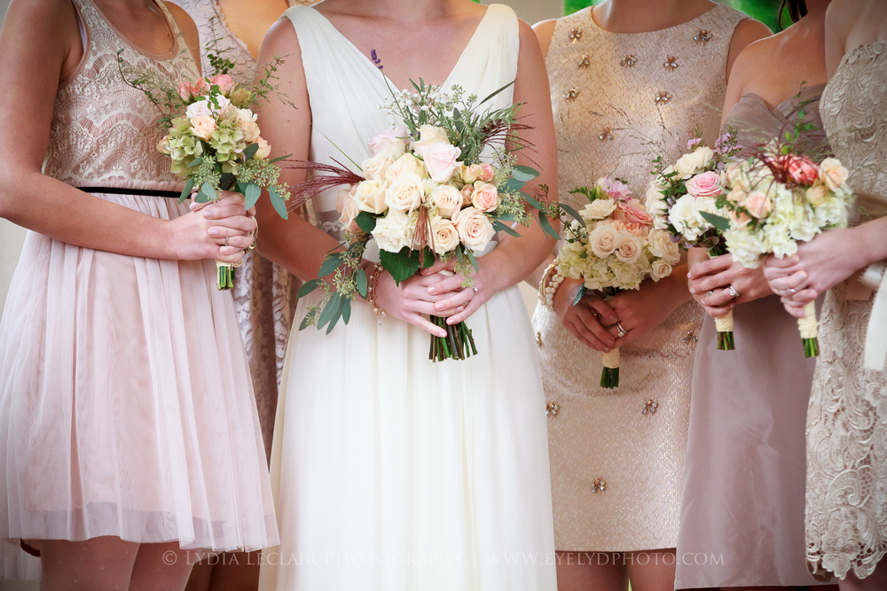 You can match all of your bridesmaids, or you can use a color palate for them to pick a dress in their style.