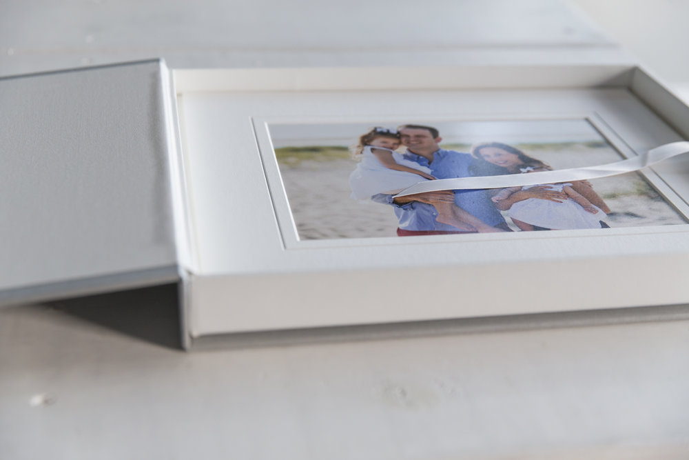 Heirloom matted prints of family portrait session Chatham, MA