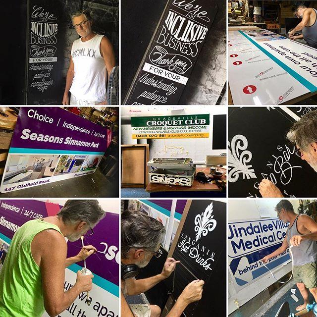 Busy year so far... #wheelsofindustry #keepingbusy #aaandlovinit #signage #signwriting #signs #chalkart #chalkboards #chalkboarddesign #johnbelltype