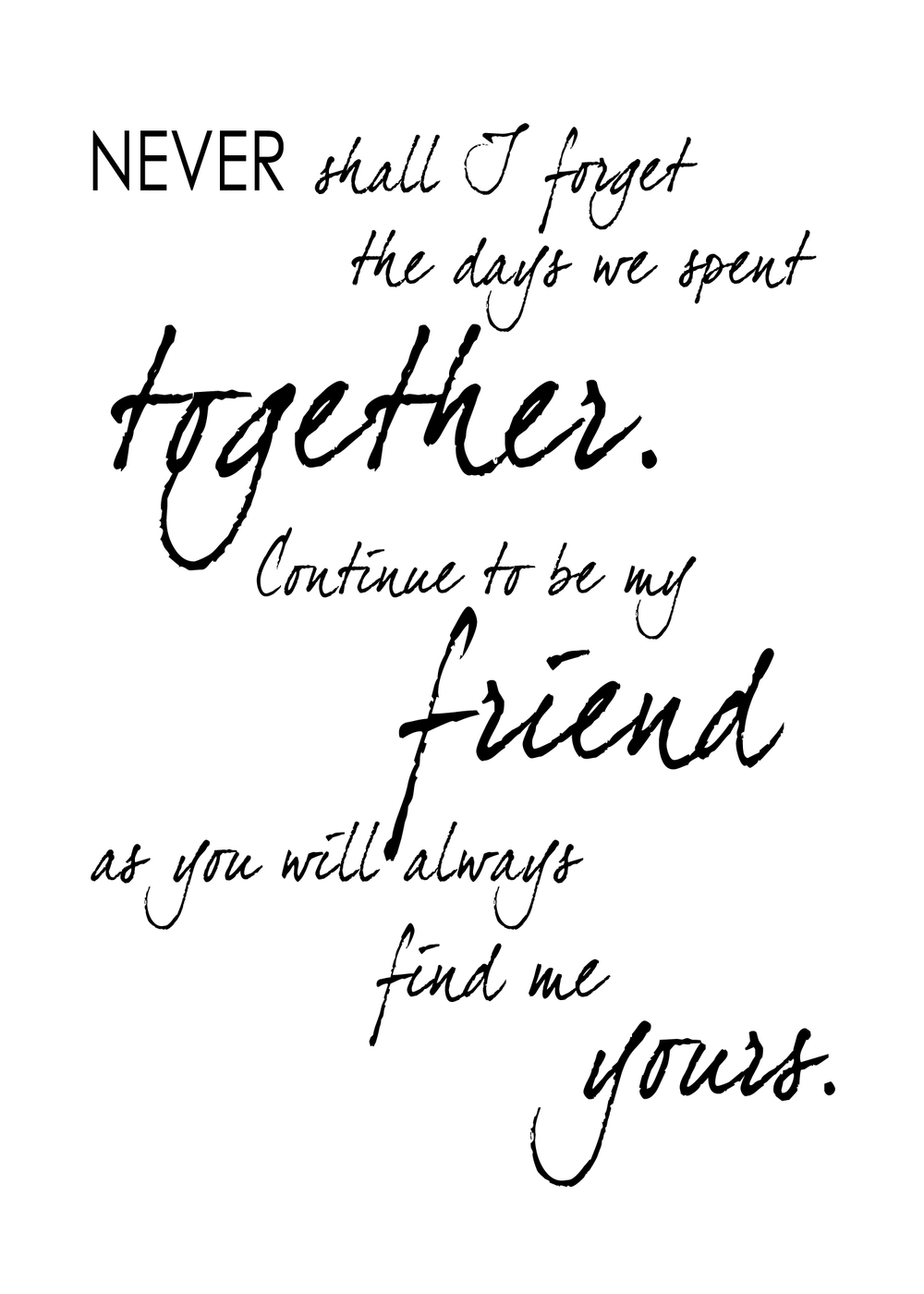 Friend Quotes Free Printables Friendship Quotes  Brown Paper Moon Designs