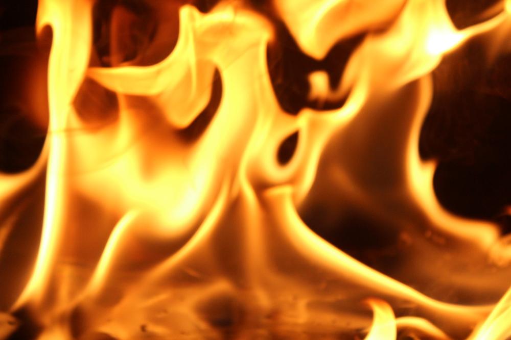 It's on fire!