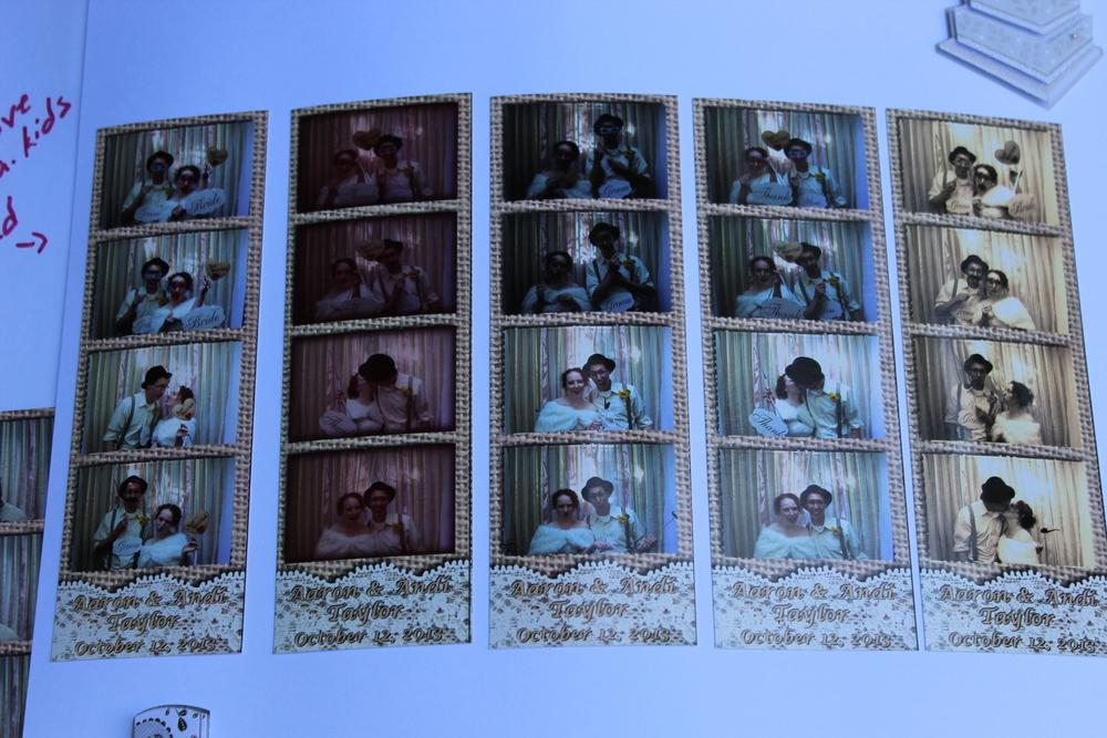 Taylor Wedding, Custom Burlap & Lace photo strips