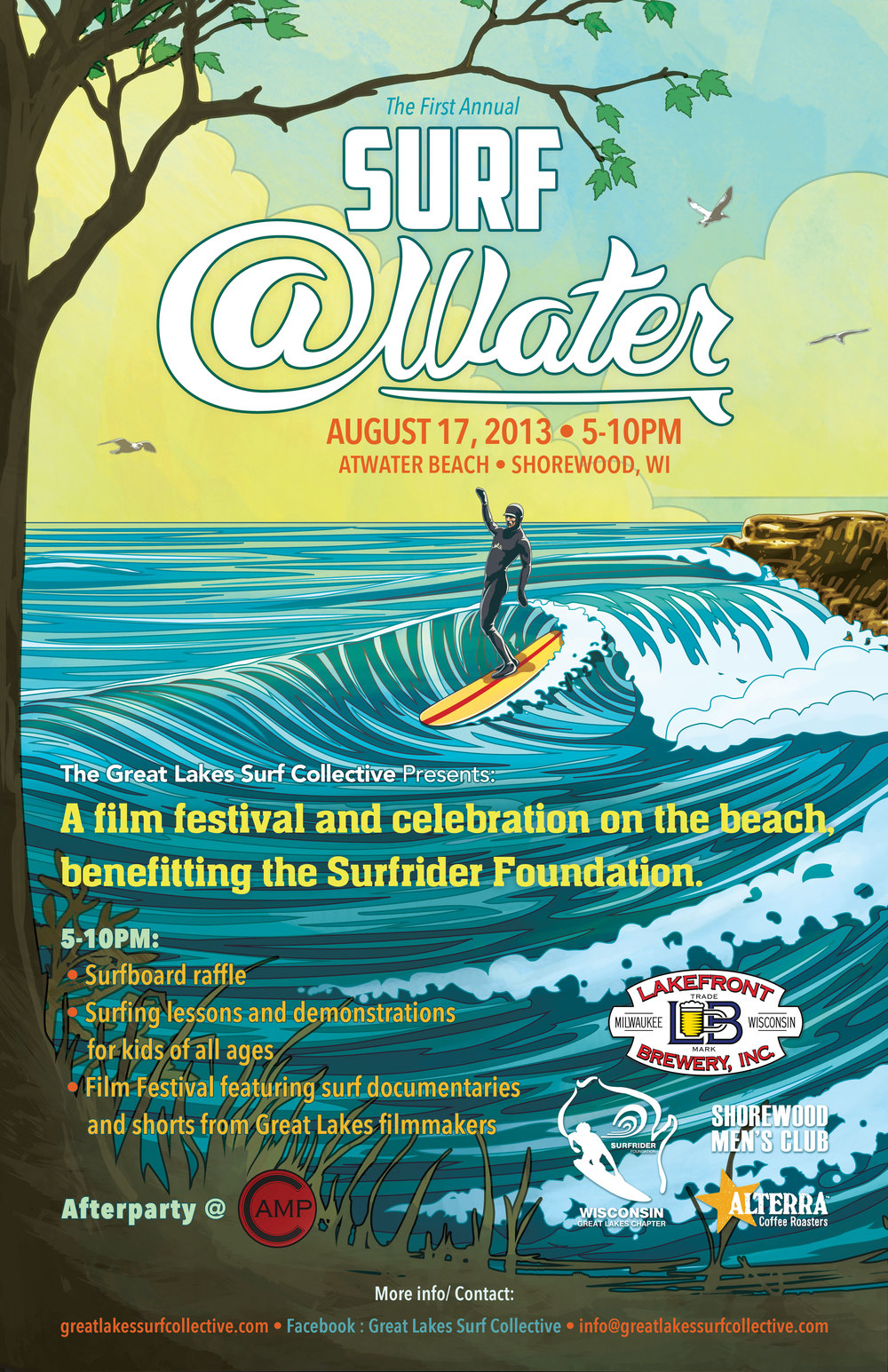 Surf Atwater event poster. Click to enlarge image.
