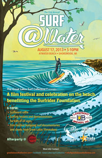 The official Surf @Water event poster, designed by Bodin Sterba, is available here.
