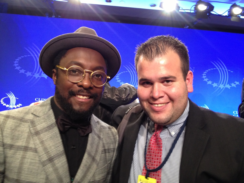 Meeting Will.i.am for the first time and inviting him to be a part of the 105 Conversations project.
