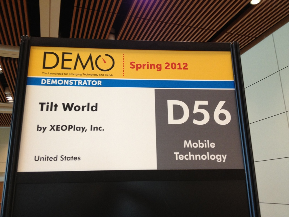 Tilt World Booth at DEMO Conference.
