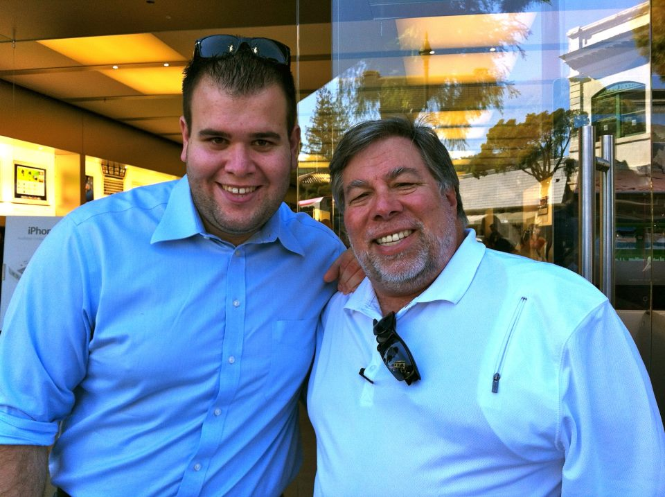 Meeting up with Woz at the Apple Store for a product release. Of course, he was first in line.