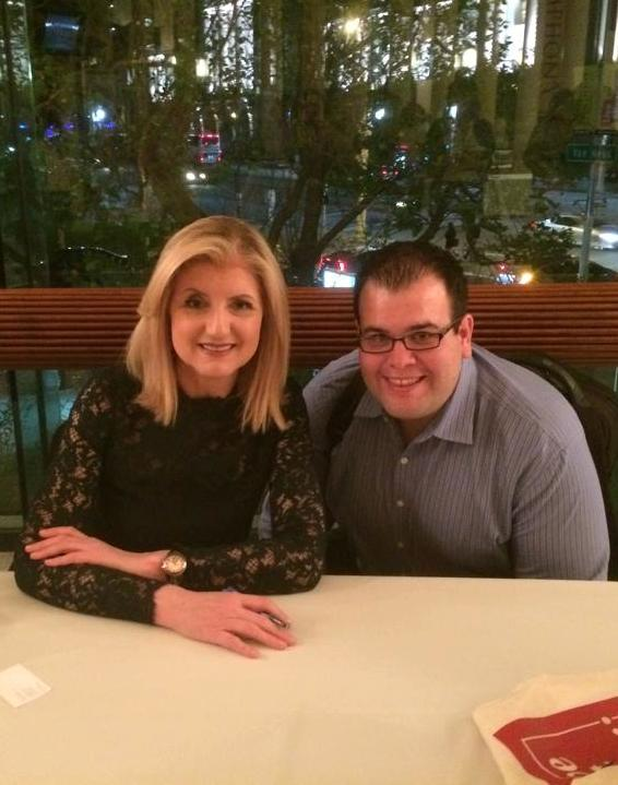 Meeting Arianna Huffington in San Francisco, after her interview with Sheryl Sandberg.
