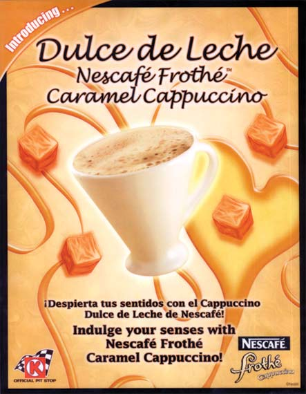 Dulce de Leche promotion for hispanic convenience stores included this point of sale, and also shelf strips throughout the store.