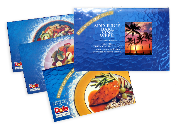 Dole Pineapple Juice Sweepstakes promotion for Foodservice chefs.