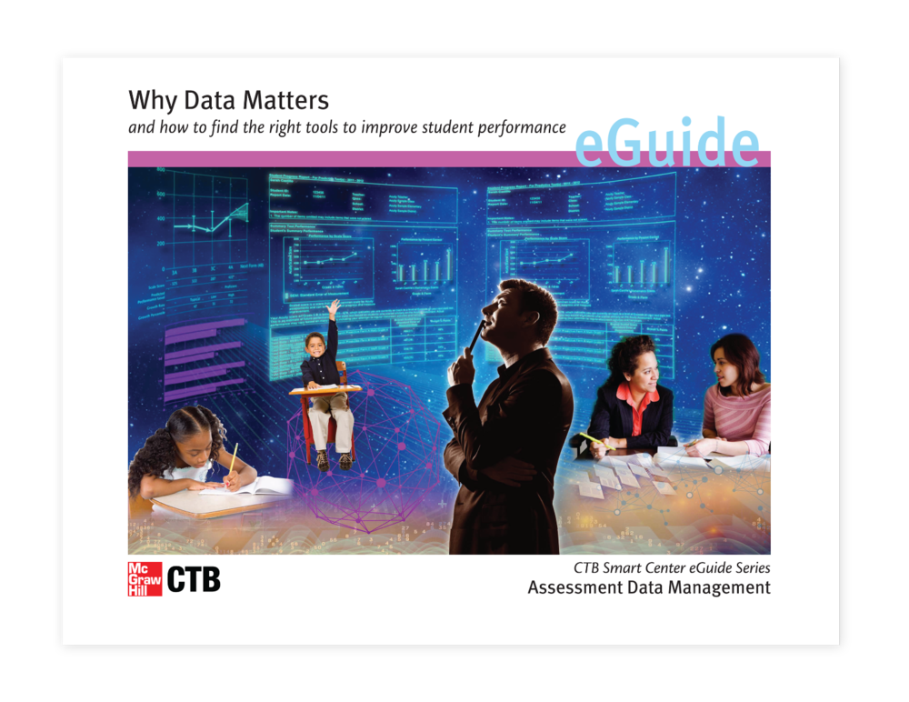 "eGuide cover for 50 page, 4 color guide on "" Why Data Matters"""