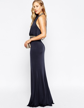 Forever Unique Halterneck Maxi Dress With Chain Detail from Asos.com $458.30NZD