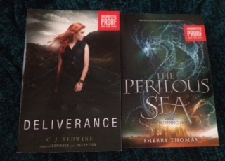 Yup, that's DELIVERANCE by CJ Redwine and THE PERILOUS SEA by SHERRY THOMAS! And they could be ALL YOURS!