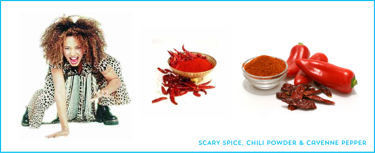 scary spice chili powder cayenne pepper
