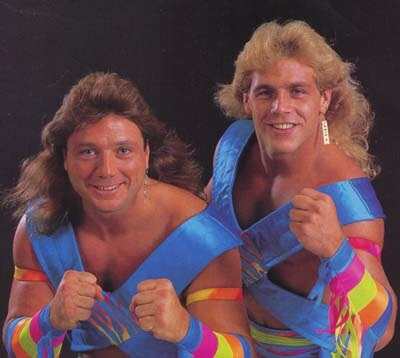 "Shawn Michaels & Marty Jannetty AKA ""The Rockers"" an unlikely but hugely successful tag team, much like our Kale & Sweet Potato friends."