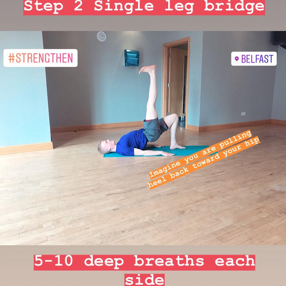 Step 2 Single Leg Bridge Yoga for Leg Day Fitness Belfast.jpg