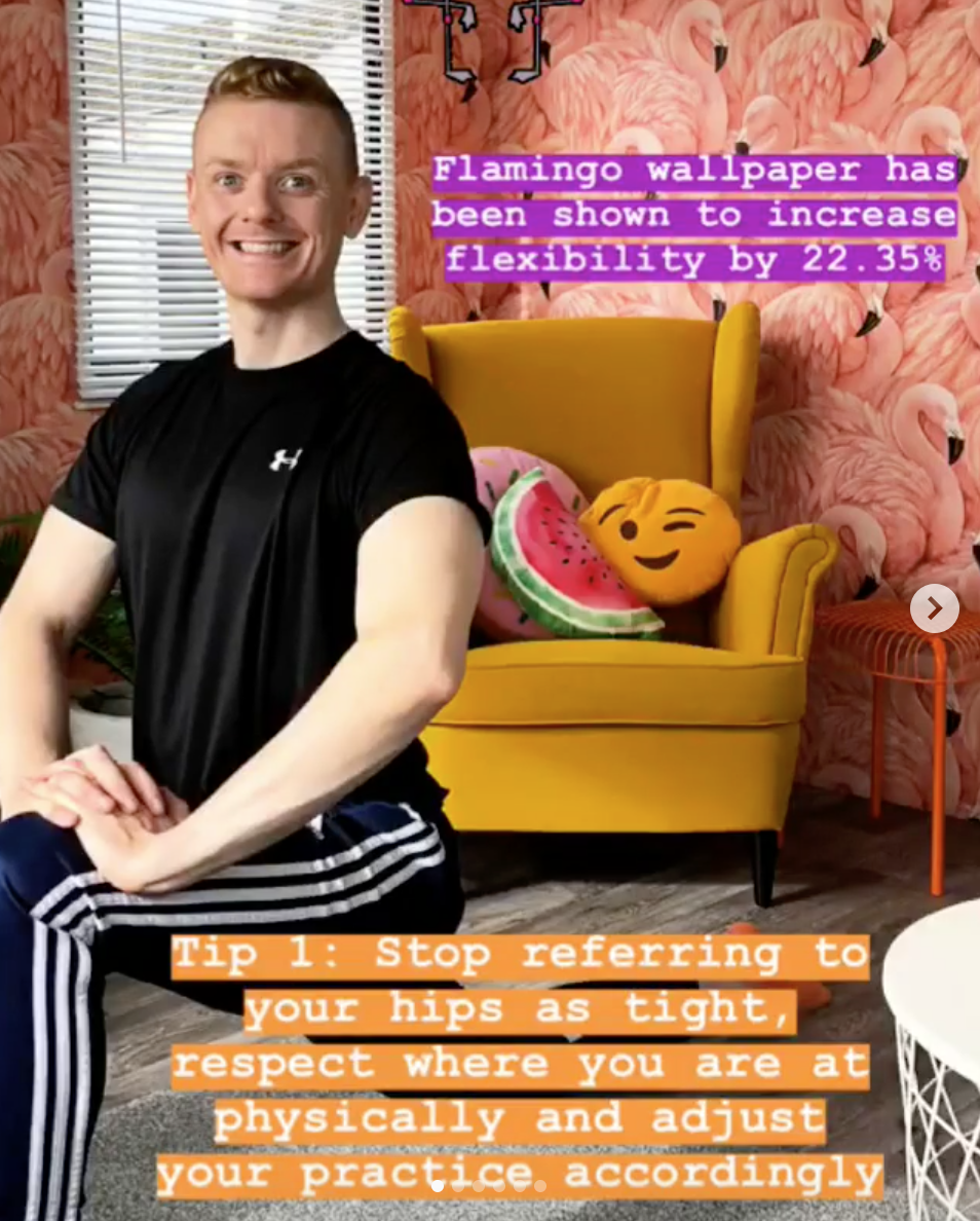 Step 1 More Tips for Hips Yoga Fitness Belfast.png
