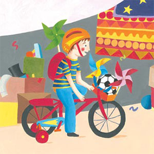 Kyowon / Round The World A picture book about a boy's bicycle journey across London to reach his sister at school.