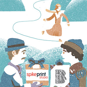 The Print Shop Design and illustration of three promotional flyers and a logo.