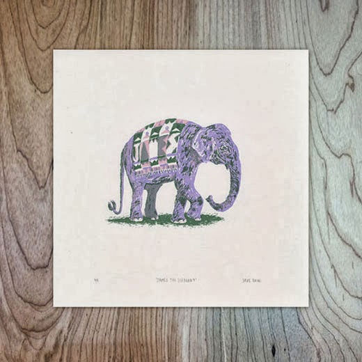 James the Elephant, 3-colour screen-print