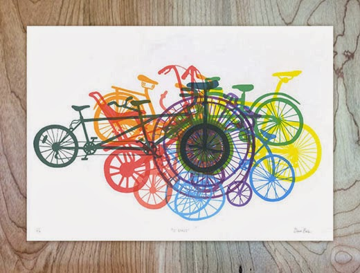 12 Bikes - A 12 colour screen-print