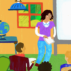 Oxford University Press Drawings created for a short animation explaining the various attributes of English Language Teaching.