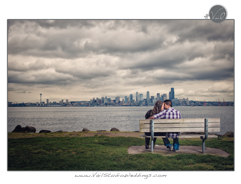 This Is A Collection Of Photographs Taken At Alki Beach And Around Century Link Field In Seattle During An Engagement Photography Shoot By Vail Studio