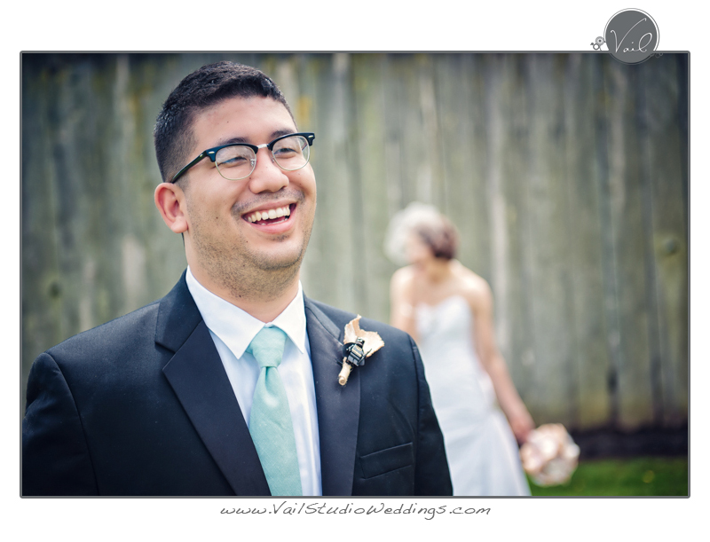 Whidbey Island Wedding happy groom 6