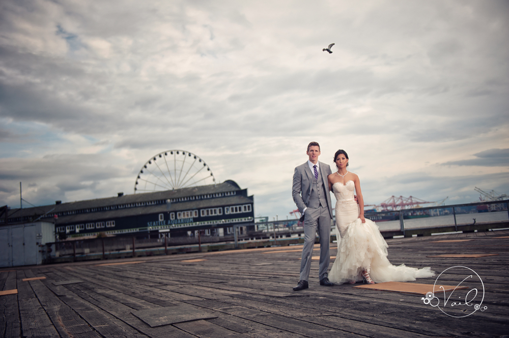 Seattle Aquarium, Seattle Center, The Great Wheel, Seattle Wedding day-40.jpg