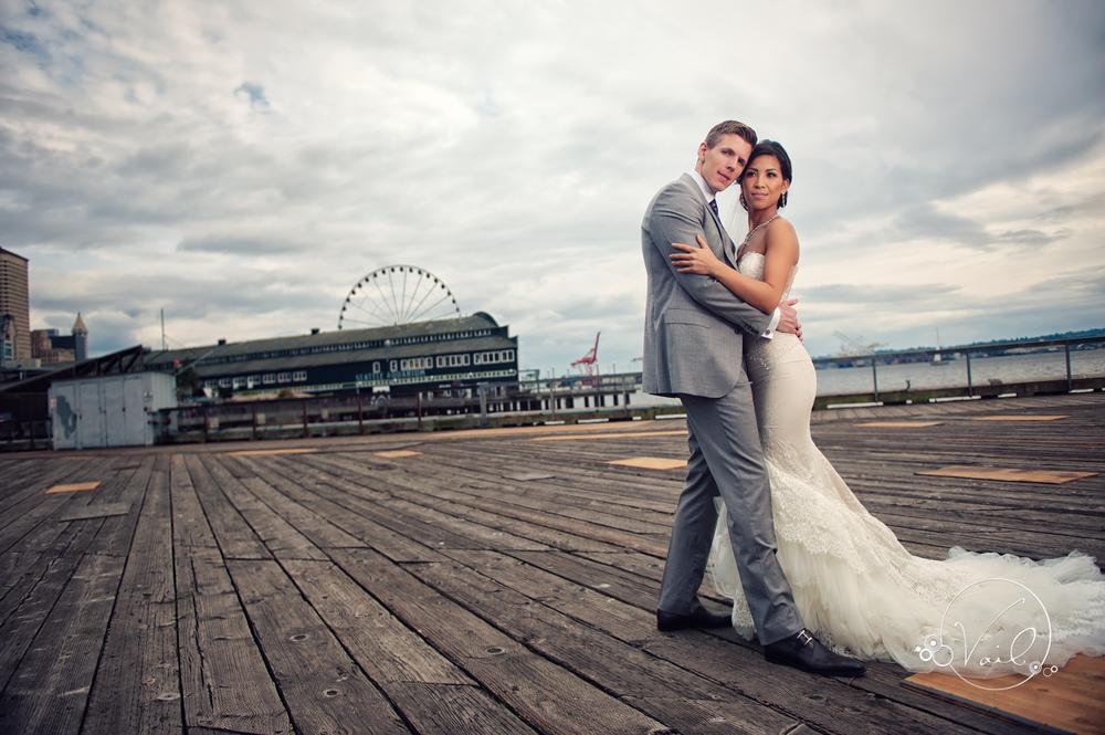 Seattle Aquarium, Seattle Center, The Great Wheel, Seattle Wedding day-43.jpg