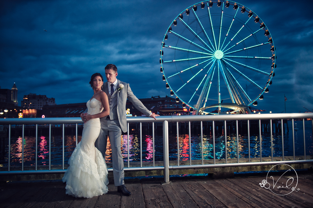 Seattle Aquarium, Seattle Center, The Great Wheel, Seattle Wedding day-87.jpg