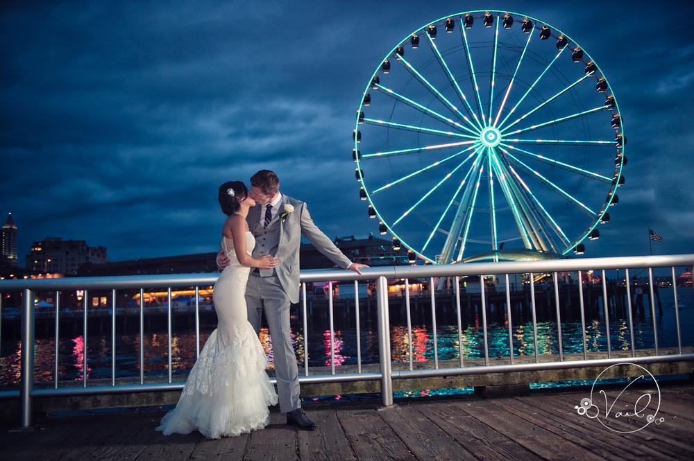 Seattle Aquarium, Seattle Center, The Great Wheel, Seattle Wedding day-89.jpg