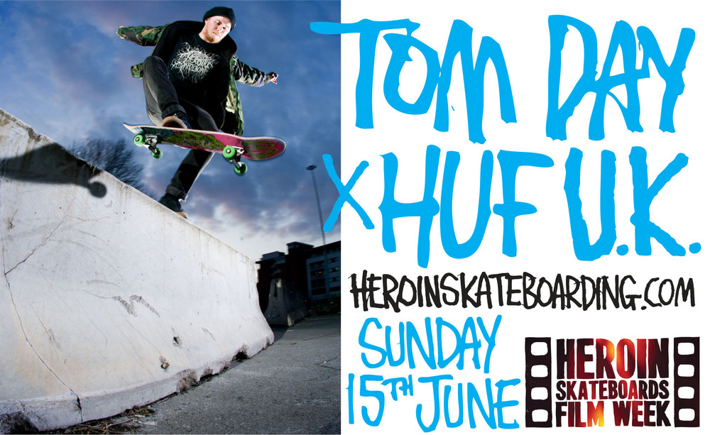 This Tom Day welcome to Huf U.K. edit concludes Heroin Film Week. Good work Tom and Fat Jim, you guys killed it on this edit. Thanks everyone for watching these, thanks everyone who helped make and promote them, its been a blast, maybe we'll do this again next year.
