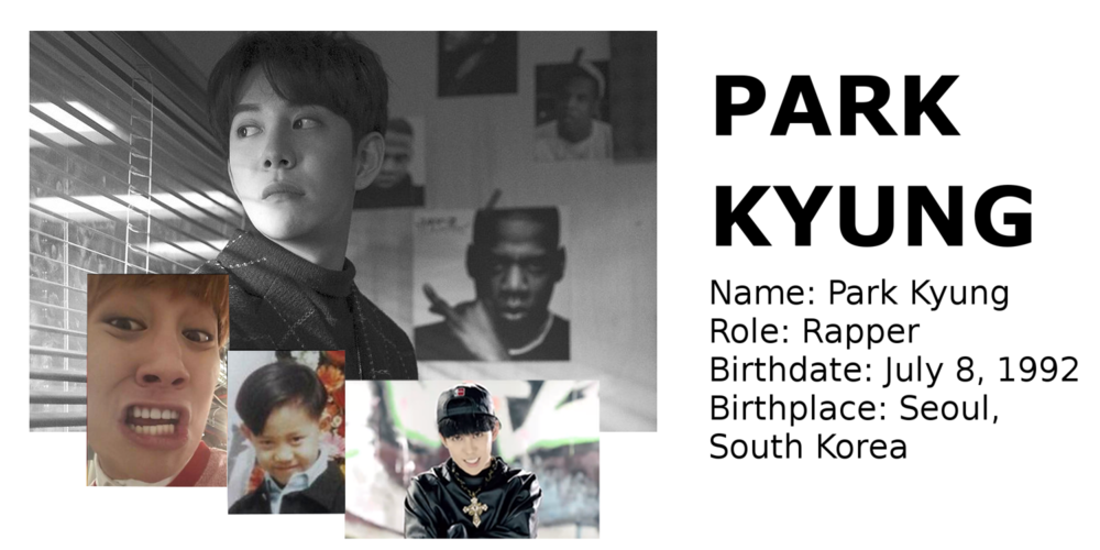 Park Kyung Block B rapper Korean songs profile Block B: Zico, Park Kyung, Jaehyo, P.O, B-Bomb, U-Kwon, Taeil rapper songs Korean K-pop K hip hop hep hap Bastarz tattoo personalities personality profile mitglieder membres member maknae age oldest youngest