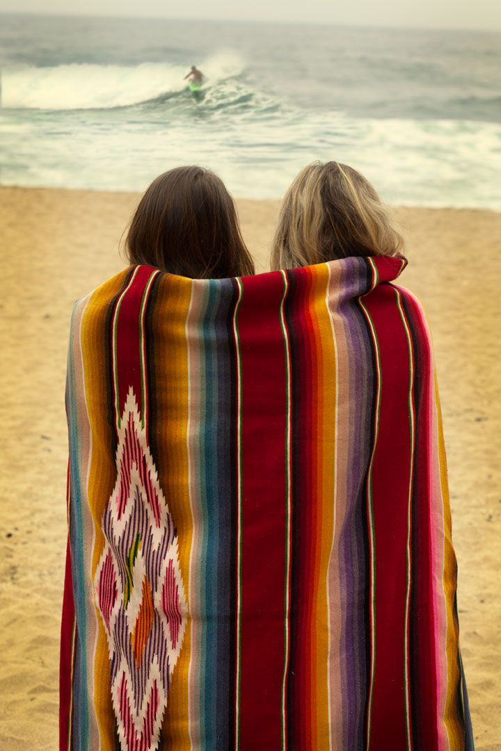 colorful blanket at the beach viathis tumblr
