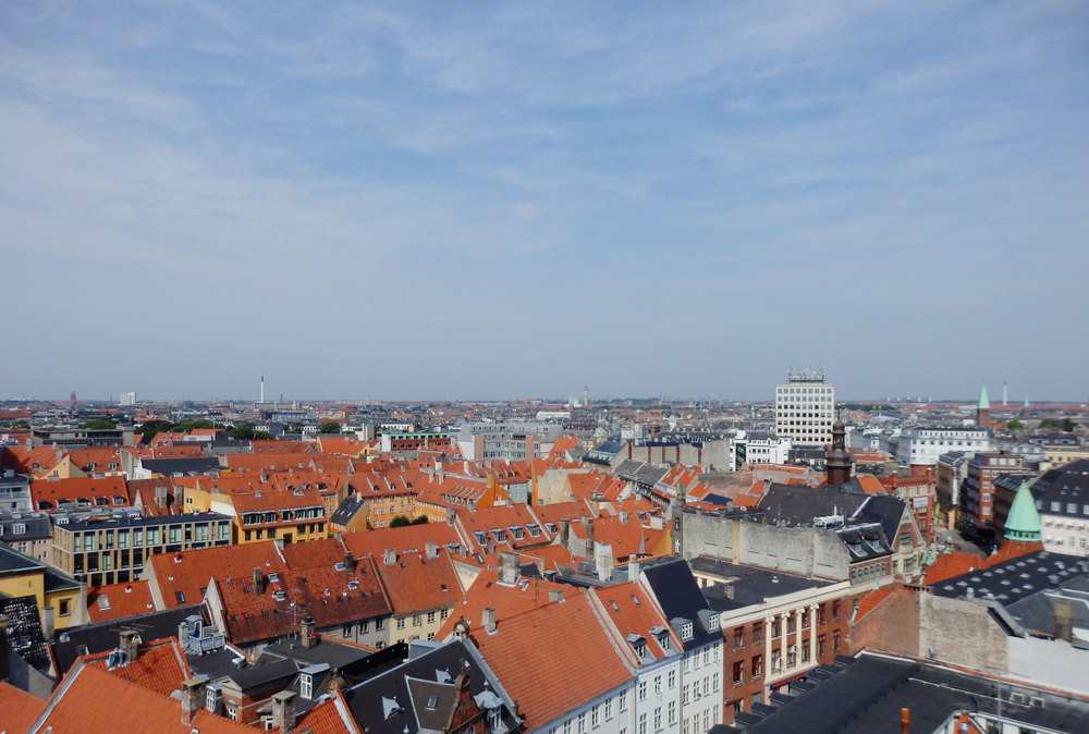 view from the round tower in copenhagen