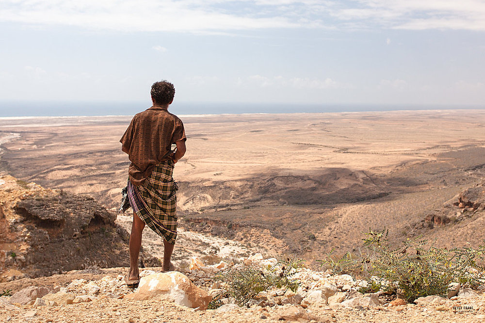 Socotra Island. View south from Diksam Plateau, 2010 © Peter Franc