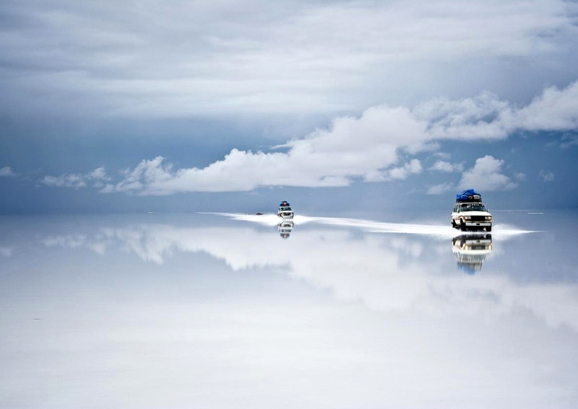 Bolivia salt desert after the rain by Guy Nesher