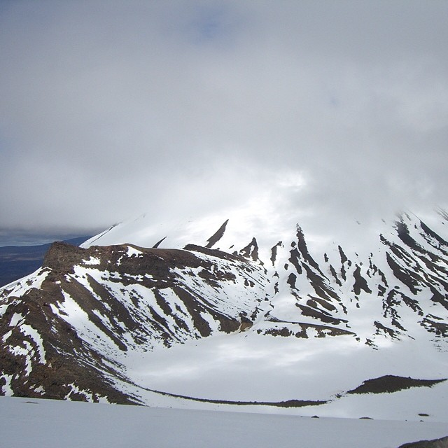 Snowy crater, Tongariro Alpine Crossing, New Zealand