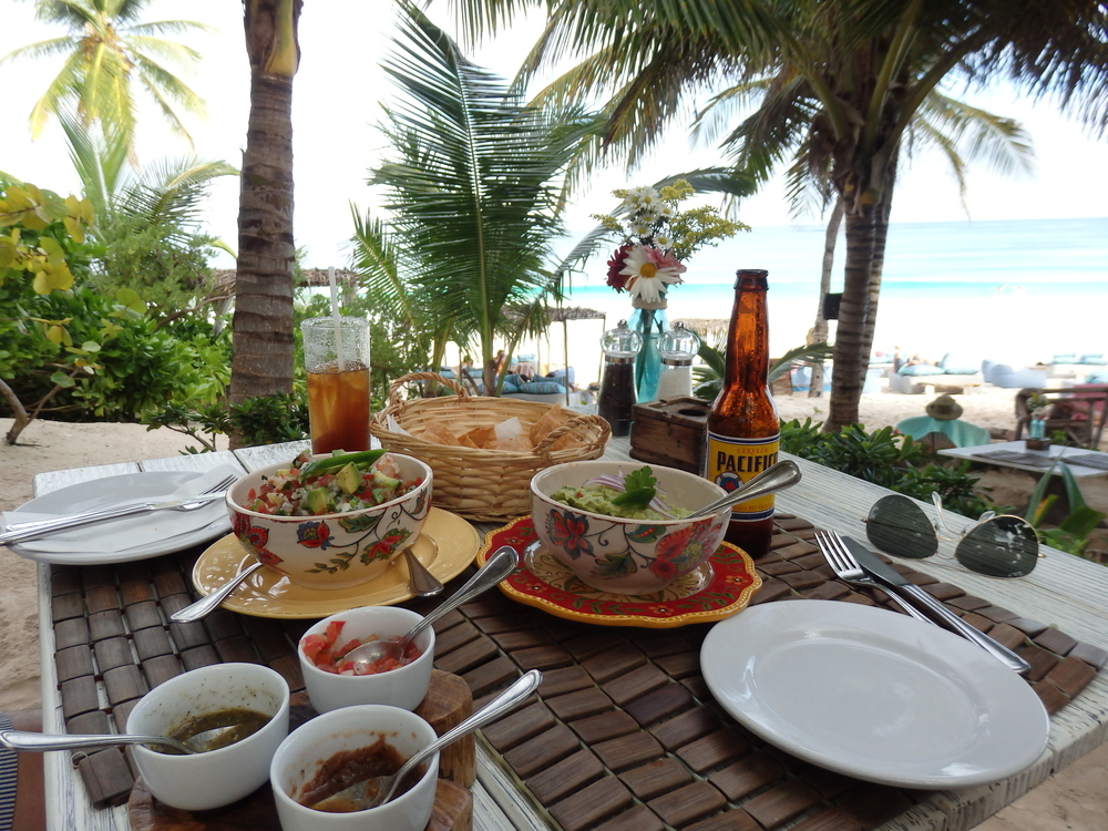 fresh ceviche & guacamole at Be Tulum