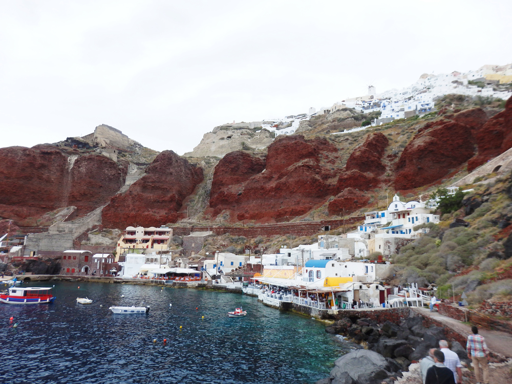 Ammoudi Bay, Santorini. See Mitch in the far right corner?